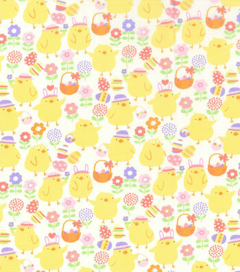 Easter Fabric 43''-Easter Chicks