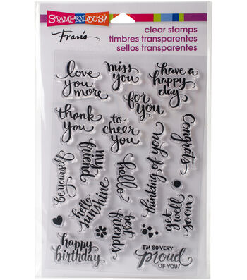 Stampendous® 20 pk Perfectly Clear Stamps 4''x6''-Brushed Wishes