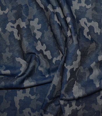 """Jacquard Denim Fabric 57""""-Camo"""