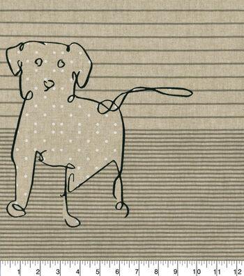 ED Ellen DeGeneres Upholstery Fabric 27''-Shale Doodle Dog