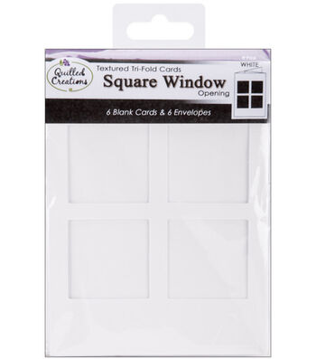 Quilled Creations Cards & Envelopes-6PK/Tri-Fold Square