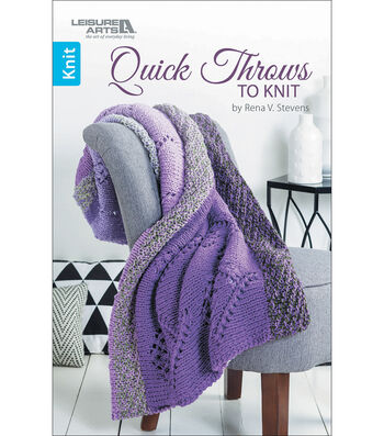 Quick Throws To Knit Book