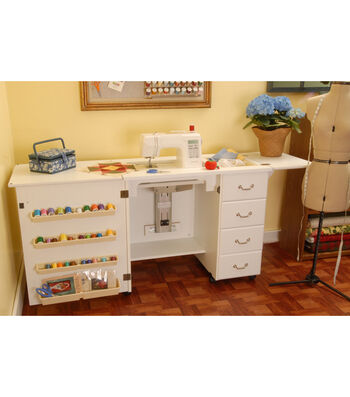 Norma Jean White Sewing Cabinet