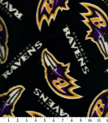 Baltimore Ravens Fleece Fabric 58''-Logo