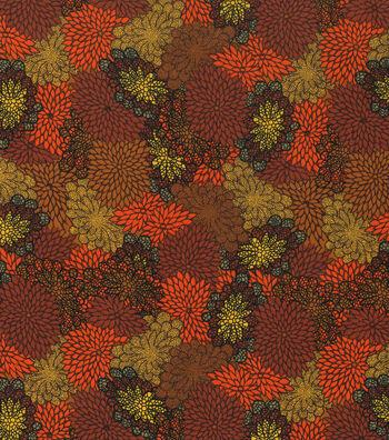 """Harvest Cotton Fabric 43""""-Mum Burst"""