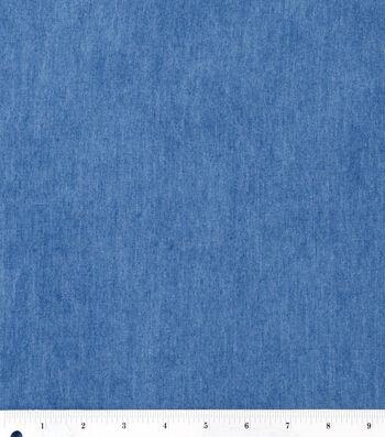 """Bottomweight Denim Fabric 57""""-Light Wash"""