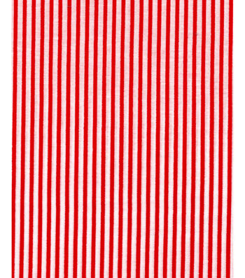 """Holiday Showcase™ Christmas Cotton Fabric 43""""-Red Stripe"""