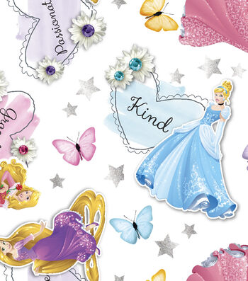 Disney® Princess Organza Fabric 56''-Butterfly & Words