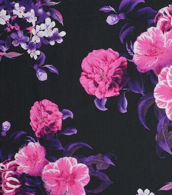 "Silky Prints Rayon Fabric 53""-Digital Blooms"