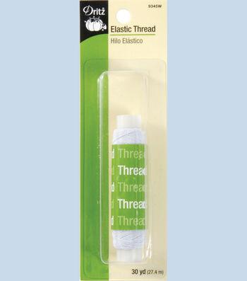 Prym Dritz Elastic Sewing Thread White