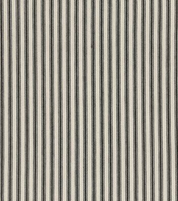 "Waverly Multi-Purpose Decor Fabric 54""-Timeless Ticking Black"