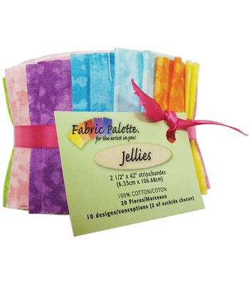 Fabric-Palette Cotton Fabric-Jellies 20/Pkg-Textures