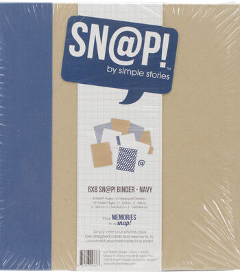 Simple Stories Sn@p! Life Binder 6''x8''