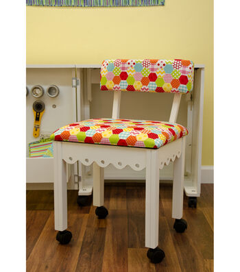 Arrow Multi-Color Hexagon Sewing Chair-White