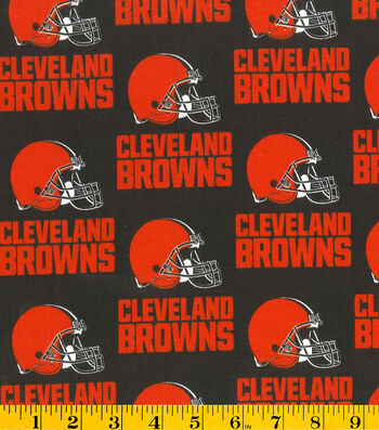 Cleveland Browns Cotton Fabric 58''-Helmet Logo