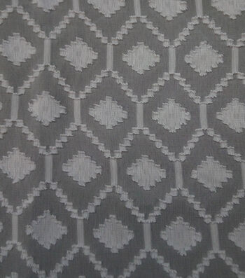 "Spring Sheen Diamond Jacquard Fabric 57""-Gray & White"