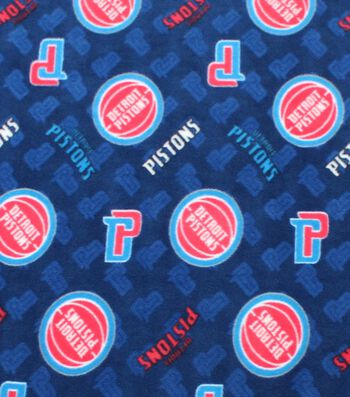 "Detroit Pistons Fleece Fabric 58""-Logo Toss"