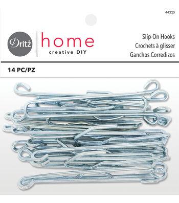 "Dritz Home 3"" Slip-On Drapery Hooks 14pcs"