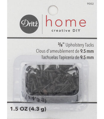 "Dritz Home 0.38"" Upholstery Steel Tacks #3 1.5oz Black"