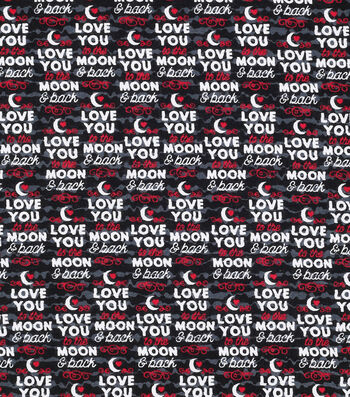 Valentine's Day Fabric 43''-Love You to the Moon & Back