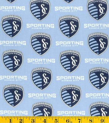 """Sporting Kansas City Cotton Fabric 58""""-Logo"""