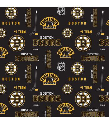 Boston Bruins Cotton Fabric 43''-Logo