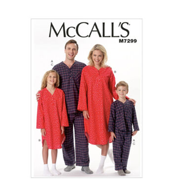 McCall's Pattern M7299 Adult & Children's Sleep & Lounge-Size S-XL