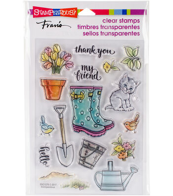"Stampendous Perfectly Clear Stamps 7.25""X4.625""-Garden Boots"