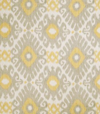 "Jaclyn Smith Multi-Purpose Decor Fabric 54""-Ikat Rot/Dove Gray"