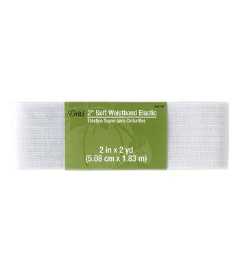 Dritz 2'' Soft Waistband Elastic-White