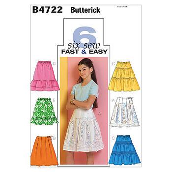 Butterick Girls Skirt-B4722