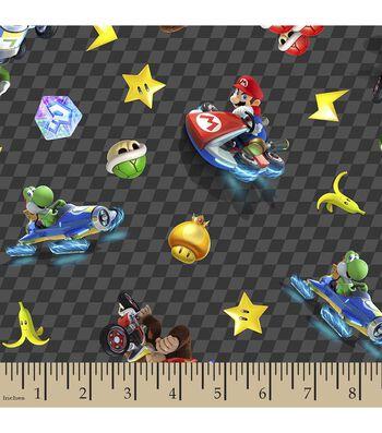 Nintendo® Checkered Character Print Fabric