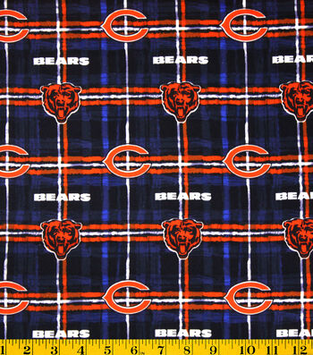 "Chicago Bears Flannel Fabric 42""-Plaid"