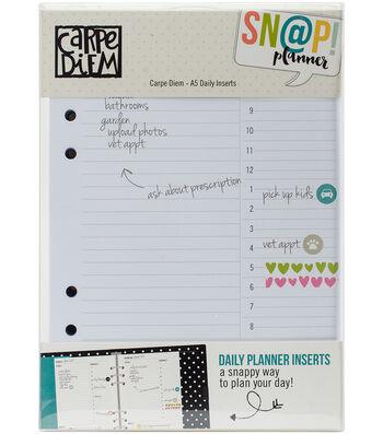 Simple Stories Carpe Diem Snap 156 pk A5 Daily Planner Inserts
