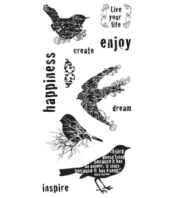 Fiskars Clear Stamps - For the Birds (4x8)