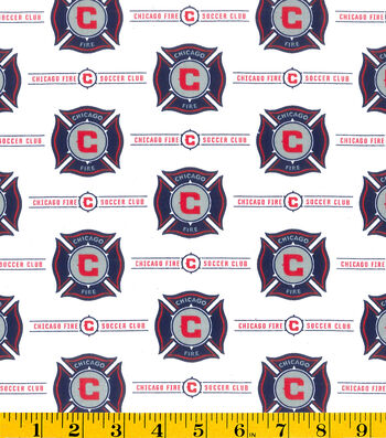 "Chicago Fire Cotton Fabric 58""-Logo"