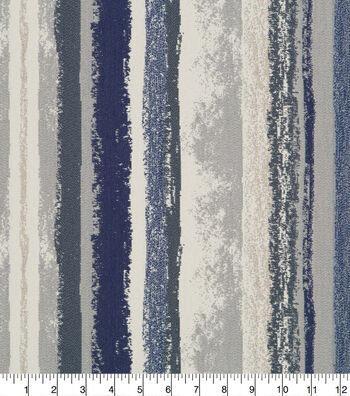 Robert Allen @ Home Upholstery Fabric 58''-Indigo Art Band