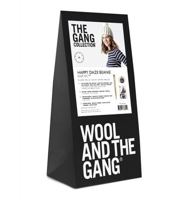 Wool And The Gang Happy Daze Beanie Knit Kit-Ivory White
