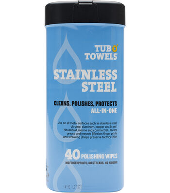"""Tub O' Towels 7""""X8""""-Stainless Steel"""