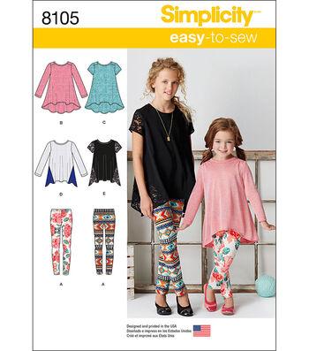 Simplicity Patterns US8105K5 Children-7-8-10-12-14