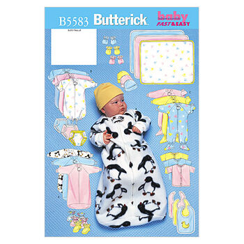 Butterick Pattern B5583 Infants' Casual Outfits-Size L-XL