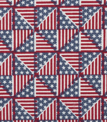 "Patriotic Cotton Fabric 44""-Pinwheel Flags"