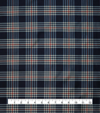 "Anti-Static Lining Fabric 58""-Navy Plaid"