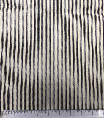 Utility Fabric-Mattress Ticking Blue Wide
