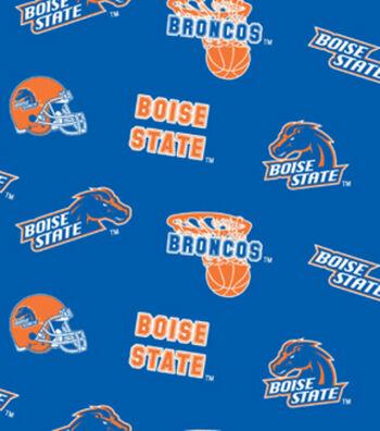 "Boise State University Broncos Fleece Fabric 58""-All Over"