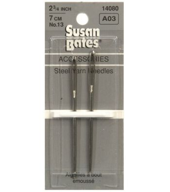 Susan Bates Steel Yarn Needles Size 13   2/Pkg