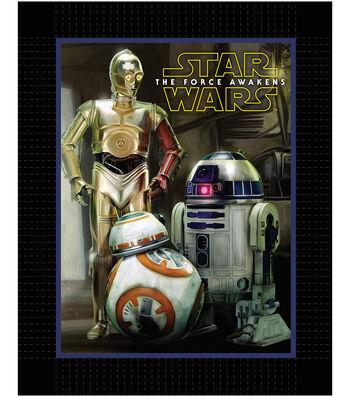 "Star Wars™ VII No Sew Fleece Throw 48""-The Force Awakens Droids"
