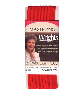 "Wrights Maxi Piping 1/2"" 2-1/2 Yards"