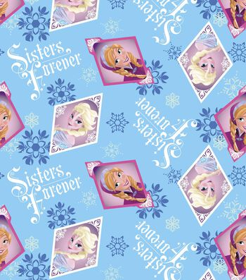 "Disney® Frozen Fleece Fabric 59""-Sisters Frame"