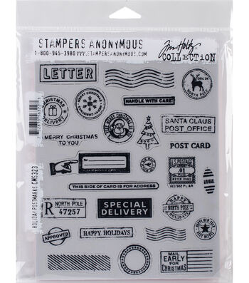 Stampers Anonymous® Tim Holtz® Cling Stamps-Holiday Postmarks